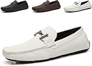 Faranzi Mens Penny Loafers Driving Moccasins Slip on Loafers Lightweight Comfortable Casual Driving Shoes Boat Shoes for Men