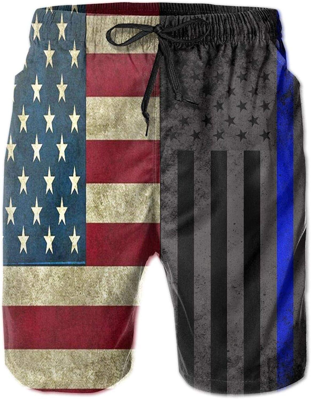 PIOKNGY Men's Cool Quick Dry 3D Printed Beach Pants Swim Trunks Drawstring Board Shorts Swimwear