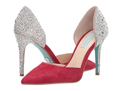 Blue by Betsey Johnson Yara Pump (Red Suede) Women