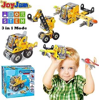 Joy-Jam Juguetes para Niños DE 5-8 años, Stem Bloques de Construcción, 3-in-1 Ingenieria Construcción DIY Apartar Bloques, Juguetes para Niñas DE 6-7 años Chicos Regalos de Cumpleanos Navidad