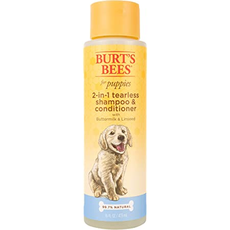 Burt's Bees for Dogs 2 in 1 Dog Shampoo & Conditioner, Puppy Supplies, Burts Bees Dog Grooming Supplies, Tearless Dog Shampoo Brush, Dog Wash, Burts Bees Pet Shampoo for Dogs, Dog Conditioner