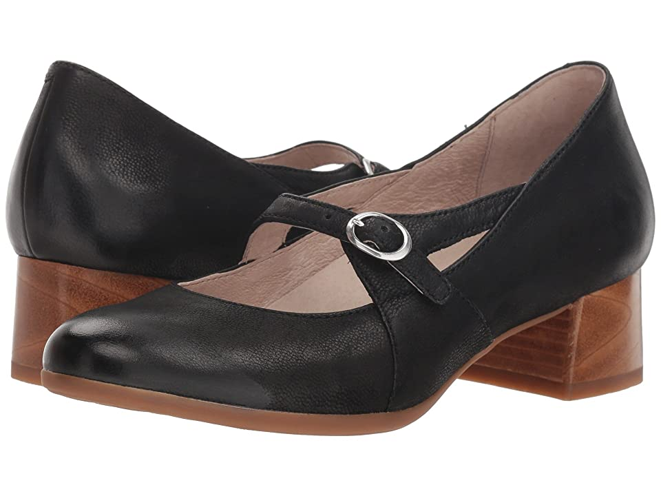 Dansko Peyton (Black Burnished Nubuck) Women
