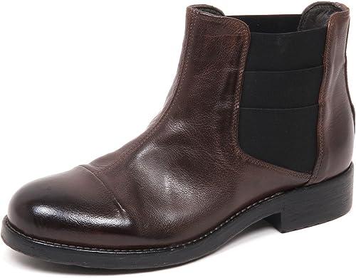 HUNDrouge 100 E0448 Beatles femmes marron Vintage démarrage chaussures Woman