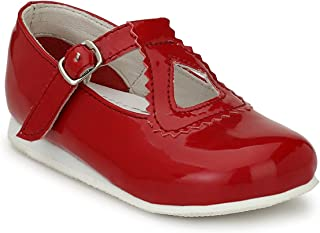 Tuskey Kids Genuine Leather Shoes Antislip Antiskid Casual Bellies for Girls
