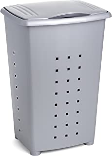 comprar comparacion TATAY Millenium Cesto para Ropa Sucia con Tapa, 60 l de Capacidad, Plástico Polipropileno, Gris, 43 x 35,5 x 64 cm