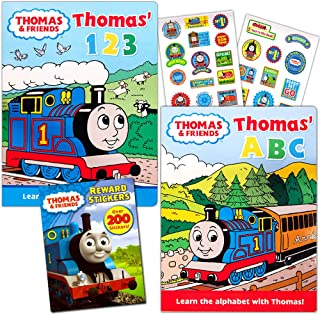 Thomas the Train Board Books Bundle ~ Set of 2 Jumbo My First Books Toddler Board Books for Kids Toddlers (ABC Book, Numbers Book)