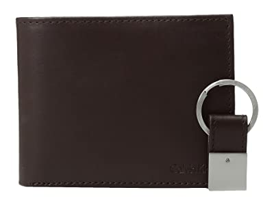 Calvin Klein Bi-fold Wallet w/ Key Fob (Brown) Wallet
