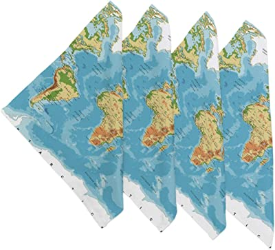 Map Of The World Of One Piece.Amazon Com Yateli Placemats Tropical Fish Sea Ocean World Coral