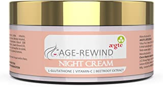 Aegte Age Rewind Night Cream - All-Natural Multi Beneficial L-Glutathione Skin Lightening Cream with Vitamin-C and Beetroo...