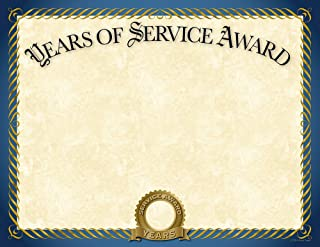 优质纸张! 服务年金箔证书,20 个装,8.5 英寸 x 11 英寸 (2015113)