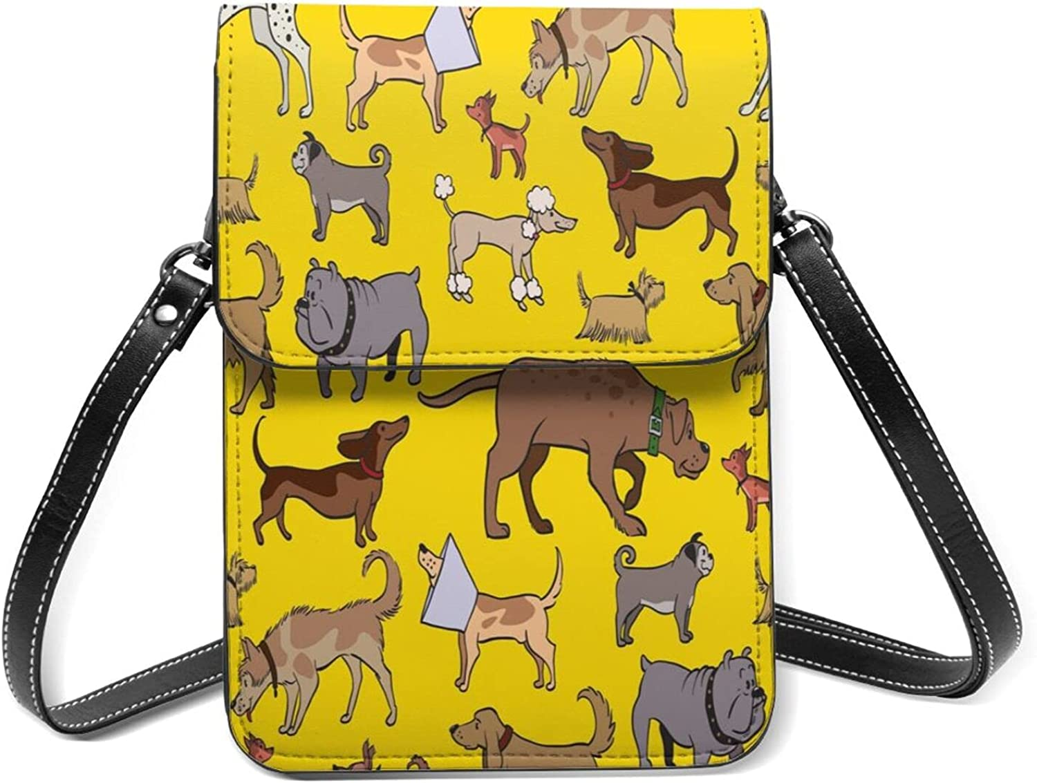 Cute Naughty Sacramento Mall Dogs Small Cell 55% OFF Phone Lightweight S Purse Flip With