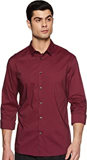 Celio Mens Slim Collar Solid Shirt