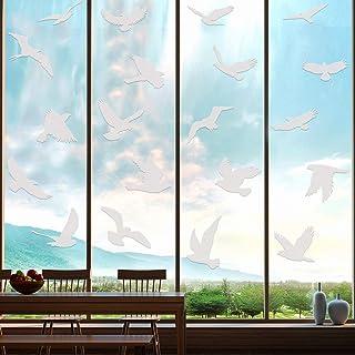 Boao 20 Autocollants Anti-Collision Larges Autocollants d'Oiseau pour Empêchement d'Impact d'Oiseau sur Porte Fenêtre Verr...