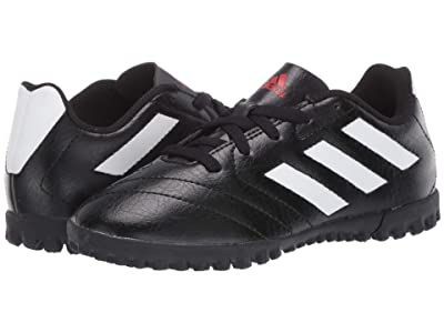 adidas Kids Goletto VII TF J Soccer (Little Kid/Big Kid) (Core Black/Footwear White/Red) Kids Shoes