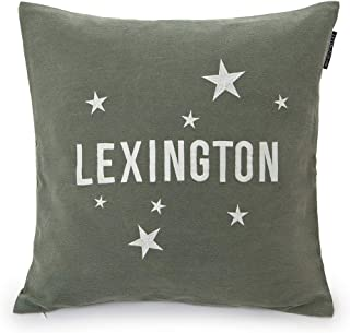 Lexington Funda cojín, Algodón, Verde, 50x50