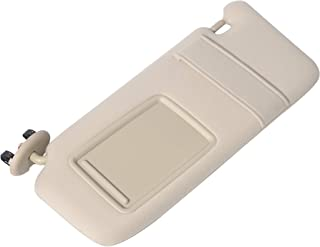Driver Sun Visor Left Side Beige - Fits 2007, 2008, 2009, 2010, 2011 Toyota Camry, Hybrid without Sunroof and Vanity Light - Replaces 74320-06780-E0, 7432006780E0, 35858 - Sun Shade Assembly Mirror