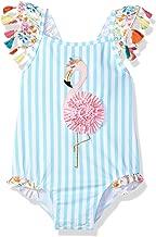Mud Pie Girls' Baby Flamingo Tassel One Piece Swimsuit