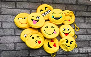 OSG Crafters Emoji Smily Pouch Return Gift for Kids Birthday Party Birthday Favours Return Gift in Bulk Set of 120 pcs