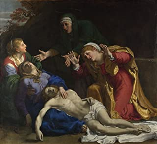 Polyster Canvas ,the High Definition Art Decorative Prints On Canvas Of Oil Painting 'Annibale Carracci The Dead Christ Mourned (The Three Maries) ', 24 X 26 Inch / 61 X 67 Cm Is Best For Powder Room Artwork And Home Artwork And Gifts