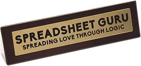 Boxer Gifts 'Spreadsheet Guru' Novelty Wooden Desk Warning Sign   Funny Office Humor Gift For Colleague Or Boss   4.5cm x 17.5cm