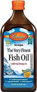 Carlson Norwegian The Very Finest Fish Oil, Orange, 1,600 mg Omega-3s, 500 mL (2 Pack)