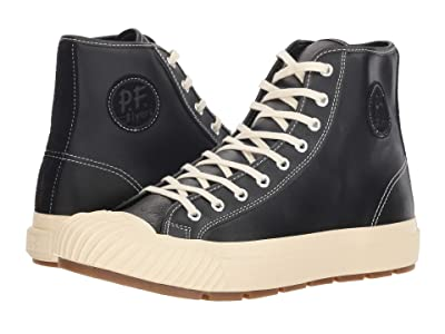 PF Flyers Grounder Hi (Black Leather) Men