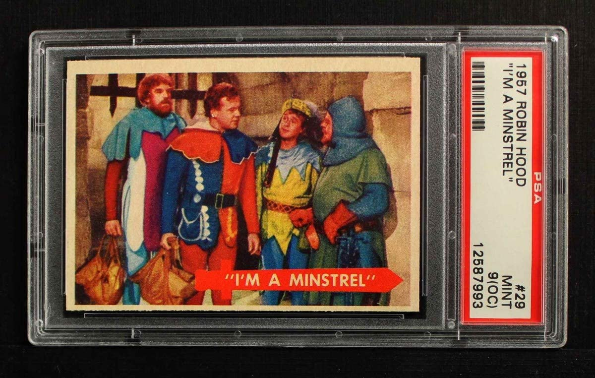 1957 Topps # Sales 29 I'm Special price for a limited time 7.00 PSA Minstrel Card