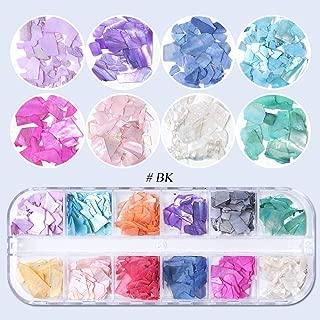 1 Box 3D Abalone Shell Irregular Nail Art Decorations UV Gel Flake Slider Nails Shimmer Pearl Jewelry Tips Manicure Polish (BK)