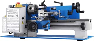 BestEquip Mini Metal Lathe 550W 7 x 12 Inch Metal Lathe 2250 RPM Infinitely Variable Spindle Speed Mini Lathe for Various Types of r Mini Precision Parts Processing