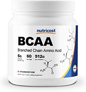 Nutricost BCAA Powder- 2:1:1 (Strawberry Kiwi) 60 Servings