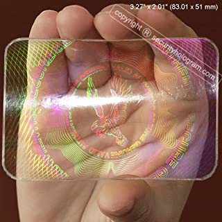 25 ID Cards Security Hologram Overlay Stickers with Micro Secure Technology SHID-11