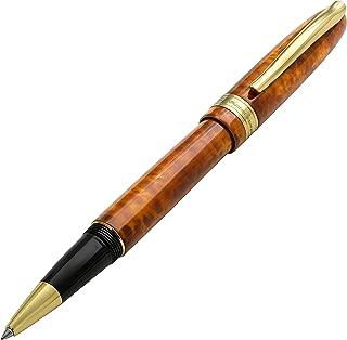 Xezo Phantom Autumn Hand-enameled 18K Gold Plated Serialized Fine Rollerball Pen. No Two Alike