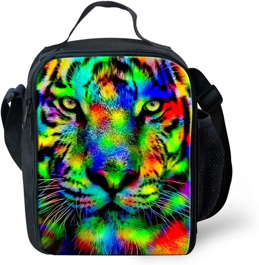 ?Showudesigns Cool Print Animal Tiger Head Lunch Tote
