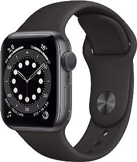 AppleWatch Series6 (GPS, 40mm) Cassa in alluminio grigio siderale con Cinturino Sport nero