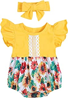 Baby Girl Clothes Floral Backless Romper Tassel Top + Dot Short Summer Outfits Set