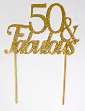 All About Details Gold 50-&-Fabulous Cake Topper