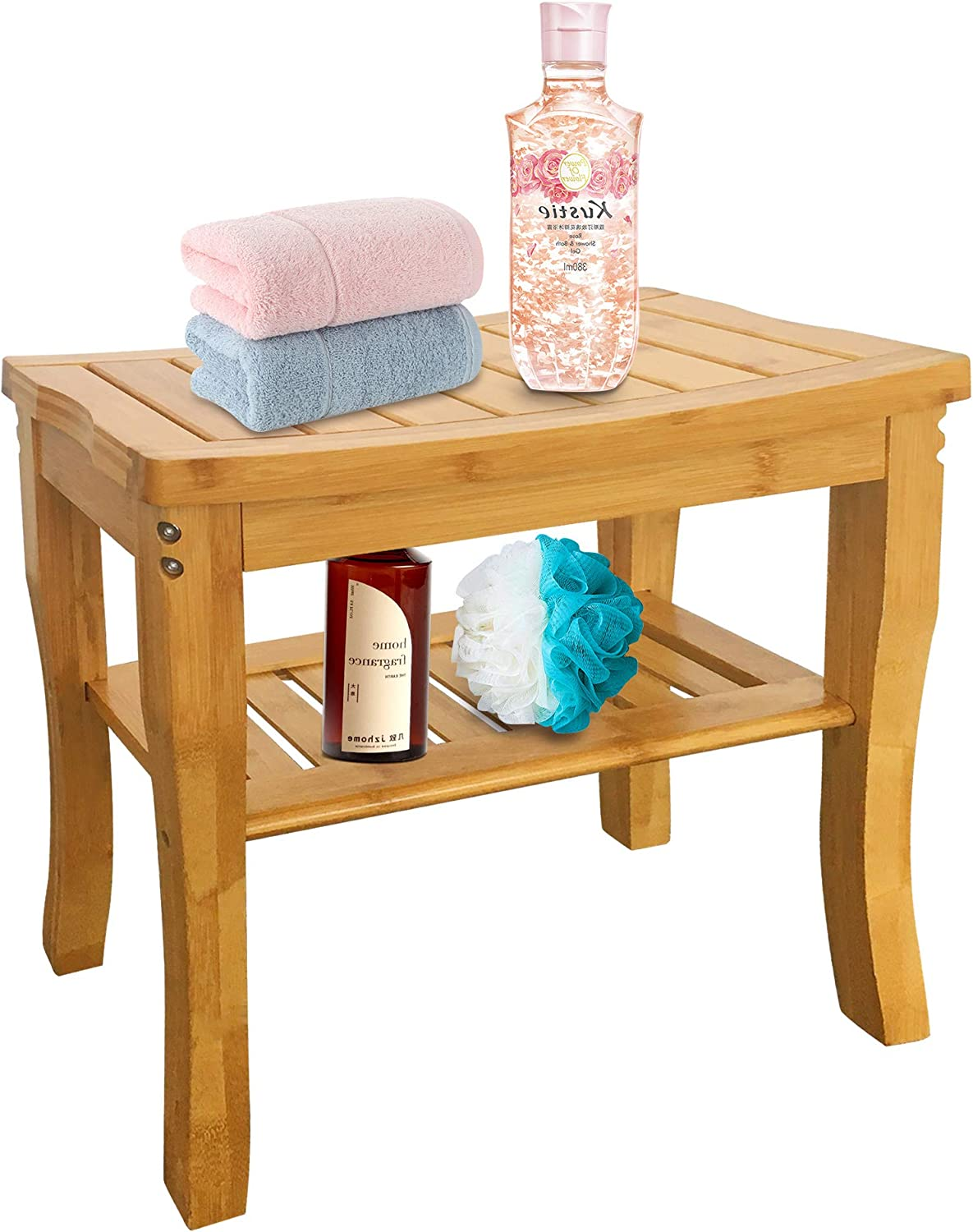 Bamboo Shower Bench Popular standard Bathroom Stool Spa with Directly managed store S Bath