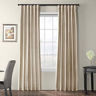 HPD Half Price Drapes PTCH-BO130907-96 Blackout Faux Silk Taffeta Curtain (1 Panel), 50 X..