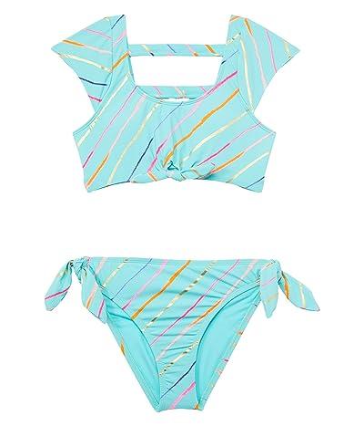 Hobie Kids Rip Tide Stripe Cap Sleeve Bralette and Hipster (Big Kid)