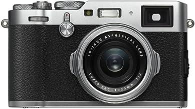 Fujifilm X100F 24.3MP Digital Camera, Fujinon 23mm f/2 Lens, Silver- Bundle with 32GB SDHC Card, Camera Case, Table Top Tr...