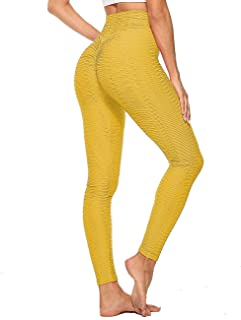 Full Length Yellow Premium Cotton Leggings Comfortable Stretchy Pants Sizes 8-22