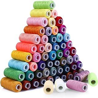 Nähgarn SOLEDI Set Mit 60 Verschiedenen Farben und 16 Nadeln, Hochwertiger Nähgarn aus Polyester, Nähzeug-Set