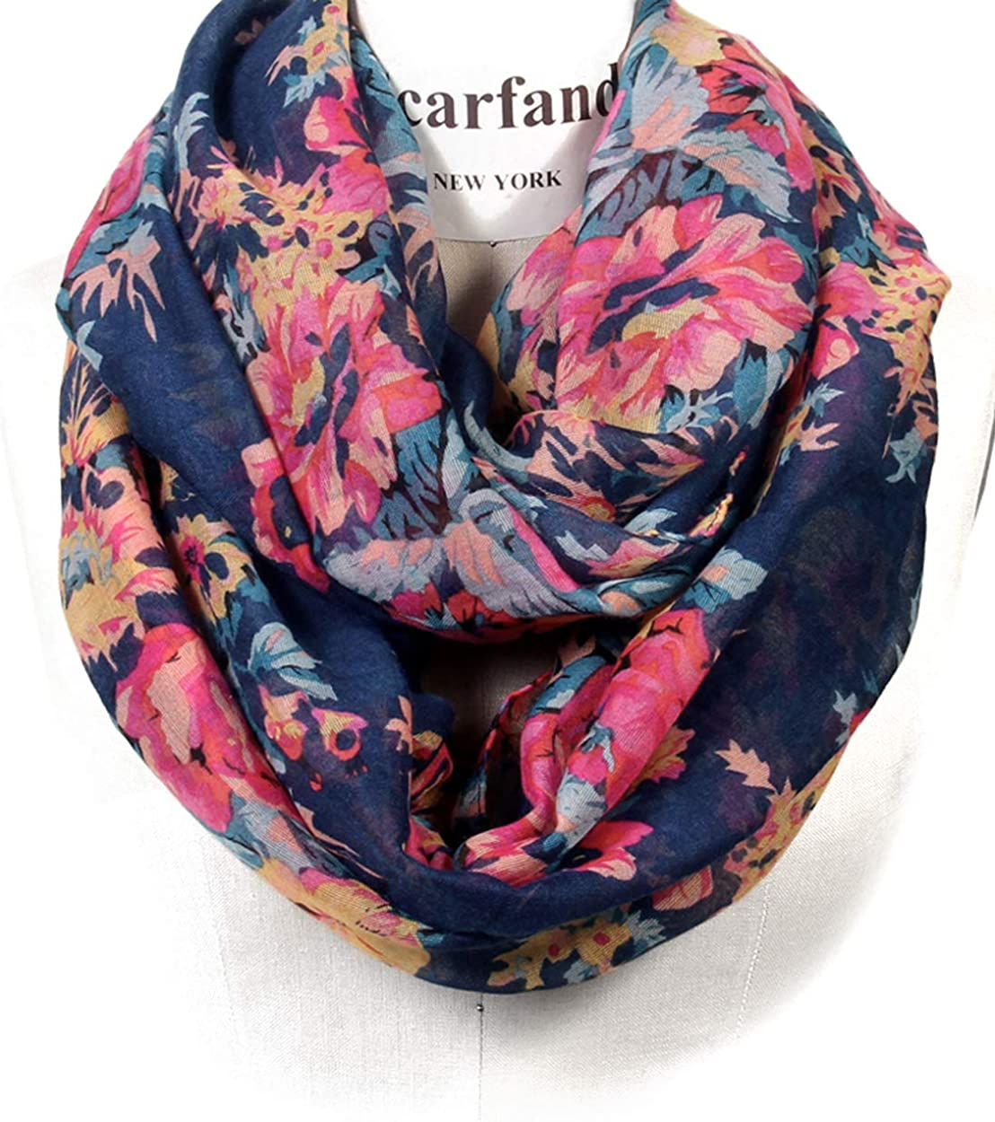 Scarfand's Romantic Rose Flower Lightweight Ver Dallas Mall Fashion Max 60% OFF Spring