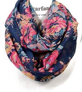 Bufanda romántica de Scarfand con diseño de rosas y flores