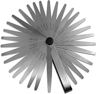 Spurtar 32 Blades Steel Feeler Gauge Measurement Tool for Measuring Gap Width or Thickness