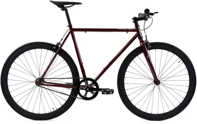 ゴールドen Cycles シングルスピード固定ギアバイク フロント&リアブレーキ付き