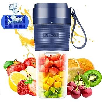 Portable Blender usb rechargeable 350ml Cordless, HOVNEE Mini Personal Blender Juicer