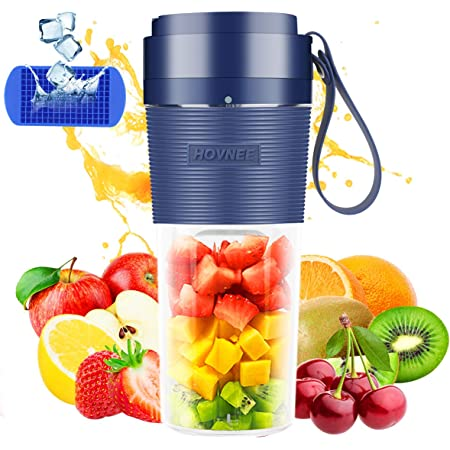 Portable Blender Cordless Personal Blender Juicer,Small Smoothie Blender USB Fruit Juicer Mixer,300ml BPA Free,Home//Outdoor//Office
