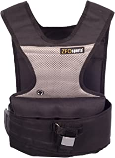 ZFOsports Short Adjustable Weighted Vest with Phone Pocket & Water Bottle Holder