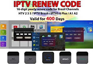 $80 » Brazil IPTV Renewal 16-Digit yearly Renew Code for HTV 2 3 5 / A2&A1 / IPTV 5 6 / IPTV5+Plus Portuguese TV Box Subscription Service Free Extra Month